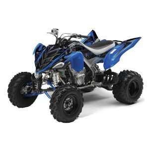 Racing Yamaha Raptor 700 ATV Quad Graphic Kit   Toxicity Blue, Black