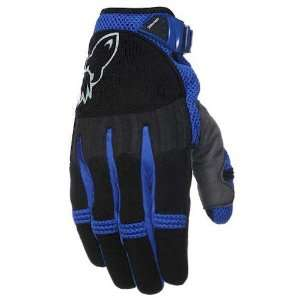 Joe Rocket Big Bang Blue on Black Motorcycle Gloves   Size