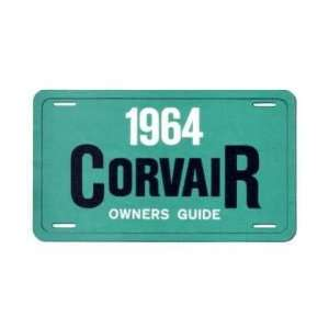 1964 CHEVROLET CORVAIR Owners Manual User Guide