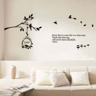 TREE&BIRD Wall Art Deco Vinyl Decal Sticker VG 153