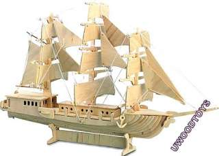LARGE SAILING GALLEON SHIP MODEL KIT U WOOD WOODEN TOYS