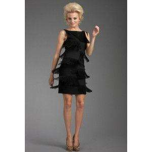 NWT TRINA TURK BLACK PONTE SHIMMY DRESS 4 $298