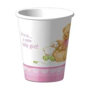 Sweet Bear Pink Cups   Girl Baby Shower 9 Oz Cups   8