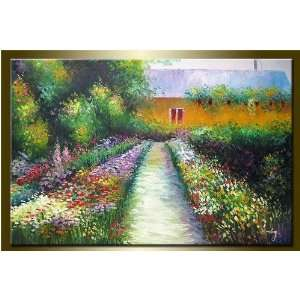 the Garden  Modern Art Work Hand Painted Oil Painting