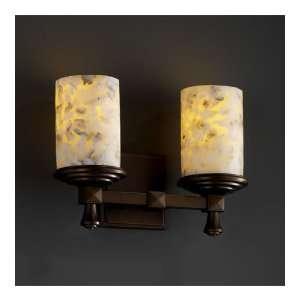 Justice Design Group ALR 8532 10 DBRZ Alabaster Rocks 2 Light Bathroom