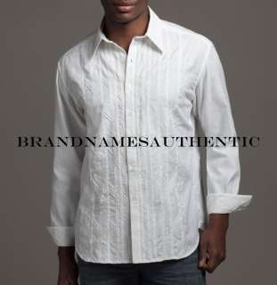 ROBERT GRAHAM Men Garifuna Designer Paisley Embroidered Shirt White