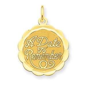 Date to Remember Charm   Measures 23.8x17.2mm   JewelryWeb Jewelry