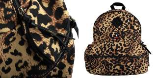 Yellow Brown Leopard Print School Backpack NWT / Man & Womens College