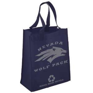 Nevada Wolf Pack Navy Blue Reusable Tote Bag Sports