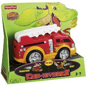 Fisher Price Car Nivores   Firetruck Dragon Toys & Games