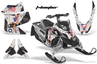 AMR RACING SLED WRAP MX Z RENEGADE GRAPHIC KIT FREERIDE SKIDOO REV XP