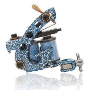 Colorful Beginner 10 Wrap Coils Tattoo Machine Liner Shader Gun HB