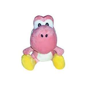 Super Mario Bros. Wii Plush   Pink Yoshi Toys & Games