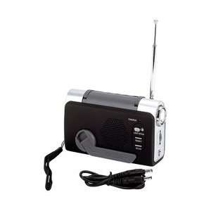 Up Fm/Weather Radio/Led Flashlight Weather Warning Alert Earphone Jack