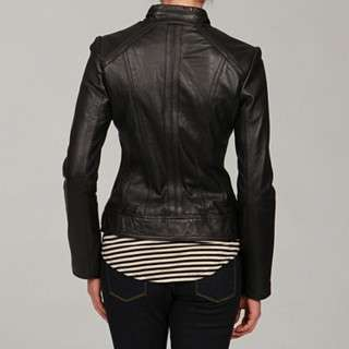 Michael Kors Womens Motorcycle Style Leather Jacket