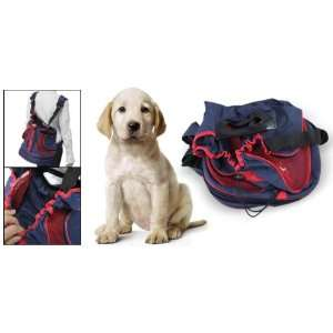 Double Shoulder Straps Blue Red Front Pet Dog Carrier