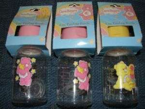 GIRLS CARE BEAR FEEDING BOTTLES 4OZ NEW IN PACKAGE CUTE
