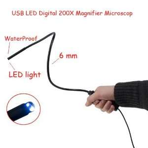 Portable 200X USB LED Digital Magnifier Microscope