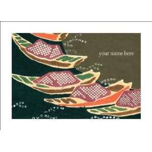Personalized Stationery Note Cards with Vintage Japanese