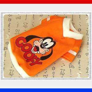 Small Dog Clothes,Disney Costume Goofy T shirts,684