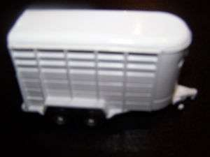ERTL Diecast White Horse Trailer 3.5 inches Long