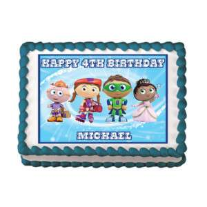 SUPER WHY 2 Edible Custom Cake Image Topper Party Decor