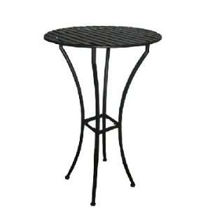Folding Bar Table   Pewter