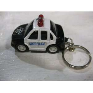 Diecast State Police Squad Car Edition Key Chain Series in