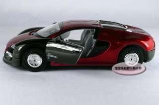 New Bugatti Vayron 132 Diecast Model Car With Sound&Light Claret red