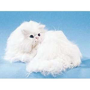 Persian Cat Lying Down Collectible Figurine Kitten Statue