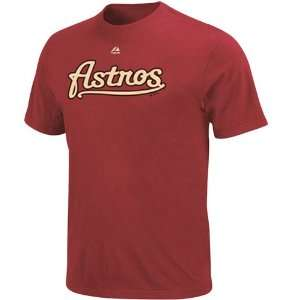Majestic Houston Astros Brick Red Official Wordmark T