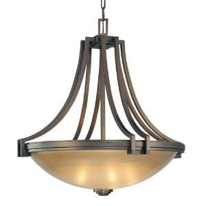 Underscore Collection 5 Light 35 Bronze Pendant with Brushed Caramel