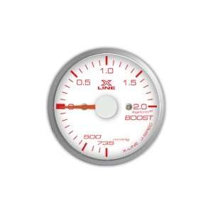 STRI Racing X Line 60mm Mech. Boost Gauge White Dial Automotive