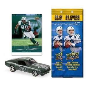 New York Jets 1967 Ford Mustang Fastback Die Cast with Thomas Jones