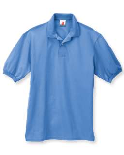 Mens Hanes 5.2 oz Stedman Blended Jersey Polo Shirt