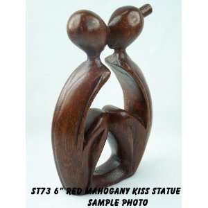 Suar Wood Abstract Modern Art Kiss Statue ST73RM Patio, Lawn & Garden