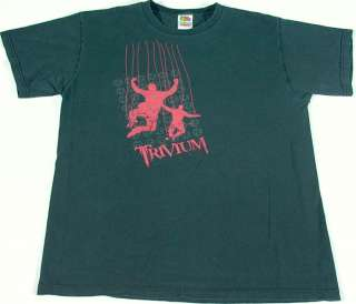 TRIVIUM Band T Shirt FRUIT OF THE LOOM size M (Pre owned)    FREE