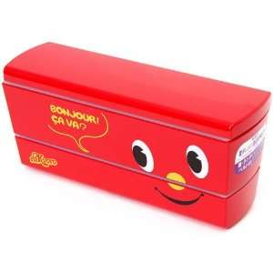 red slim niKyoro Lacquer Bento Box Lunch Box Toys & Games