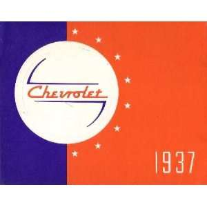1937 CHEVROLET Sales Brochure Literature Book Piece