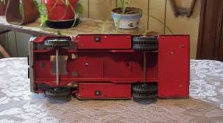 Vintage TONKA Fire Truck METAL Pressed Steel RED TRUCK 1960s