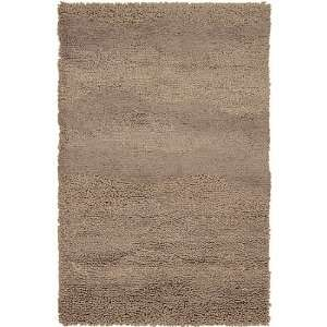 2 x 3 Berme Brown Sugar Wool Shag Area Throw Rug
