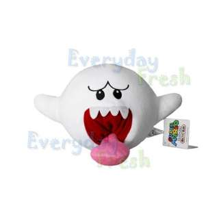 NEW Nintendo Super Mario Bros Boo Ghost 4 Soft Plush Doll Toy Wii SMB