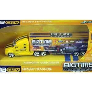 Jada Dub City Big Time Muscle Yellow Kenworth T2000 Hauler