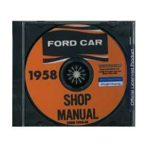 1958 FORD Car Shop Service Manual Book CD Automotive