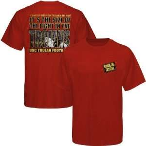 Southern Cal Trojan Tee Shirt  USC Trojans Cardinal Fight In The