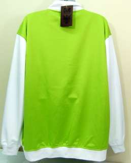 GB Sport Workout Jacket Lime Green & White Big Tall 3XL
