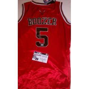 Carlos Boozer Signed Authentic Chicago Bulls Jersey