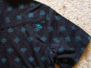 Mens RIPCURL TBoned Black Mens Casual Shirts $60