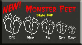 FLIP FLOP FOOT PRINTS DECAL STICKER FAMILY Sandals feet