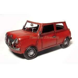 Red mini cooper monte carlo sports car model display
